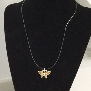 Jewelry - Dainty Orange Butterfly Necklace